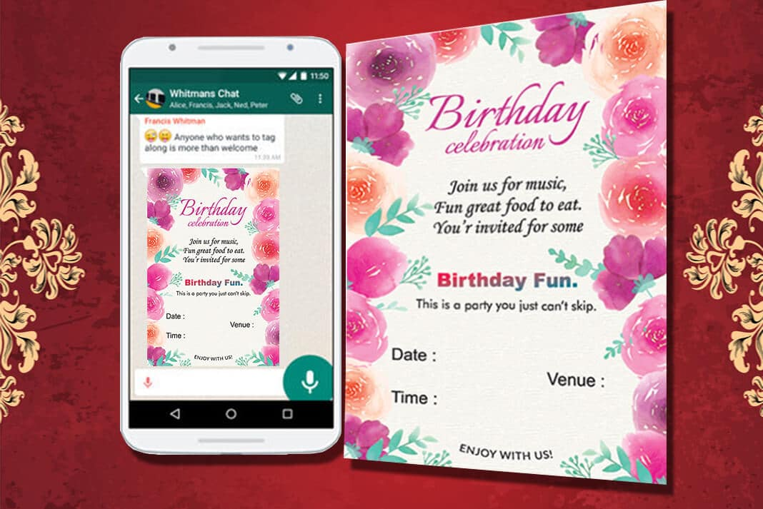 Whatsapp Invite For Occasions